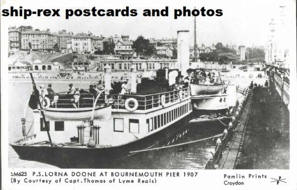 LORNA DOONE (1891, Red Funnel) postcard (c)